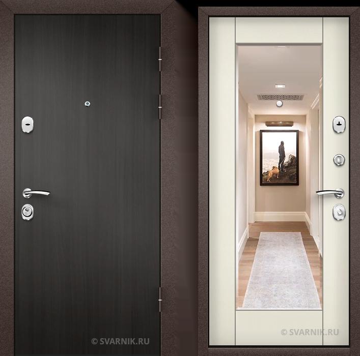 Дверь металлическая утепленная в дом ламинат - МДФ