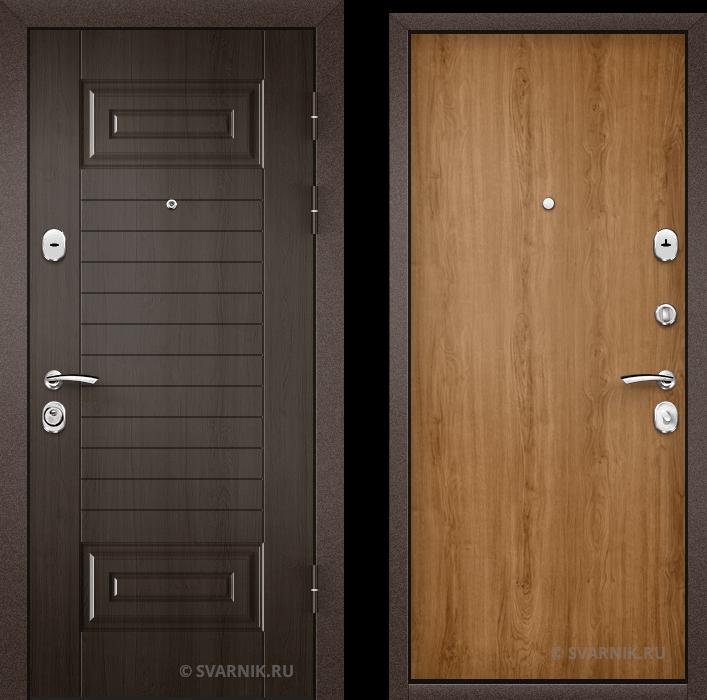 Дверь металлическая с терморазрывом в коттедж МДФ - ламинат